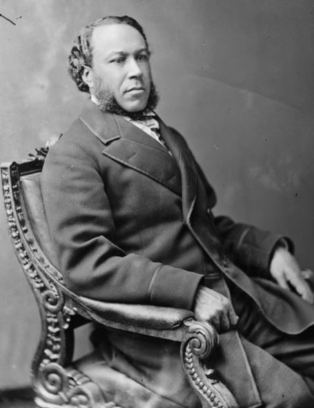 "Photo: Joseph Hayne Rainey, c. 1873. Credit: Mathew Brady or Levin Handy; U.S. Library of Congress, Prints and Photographs Division. Read more on the GenealogyBank blog: ""First African American Congressman Elected: Newspapers React"" https://blog.genealogybank.com/first-african-american-congressman-elected-newspapers-react.html"