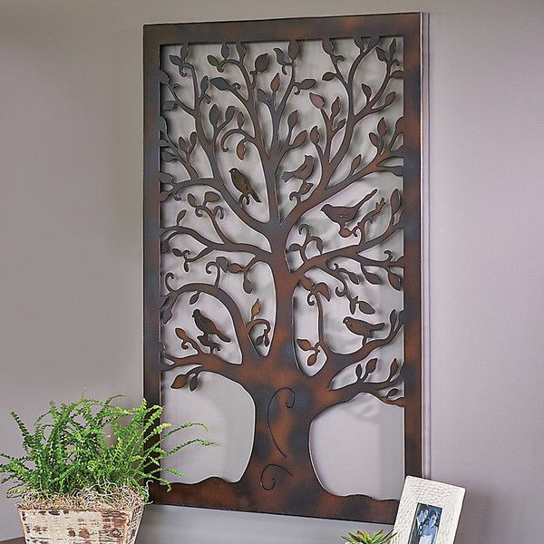 Perfect Improvements Metal Tree Of Life Wall Art Decor (43 NZD) ❤ Liked On Polyvore
