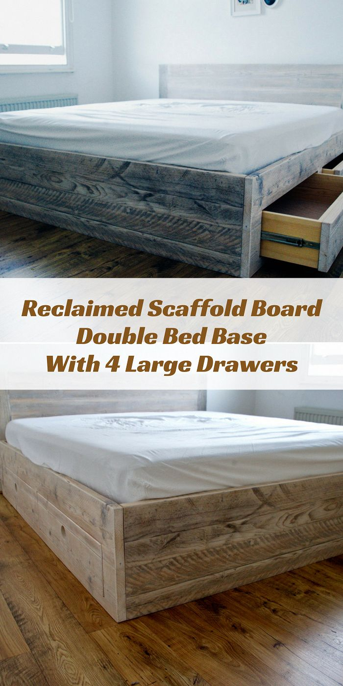 This fully slatted uniquely sprung bed base can be made to any size mattress. Comes with solid pine drawers with super smooth push to open action. || …