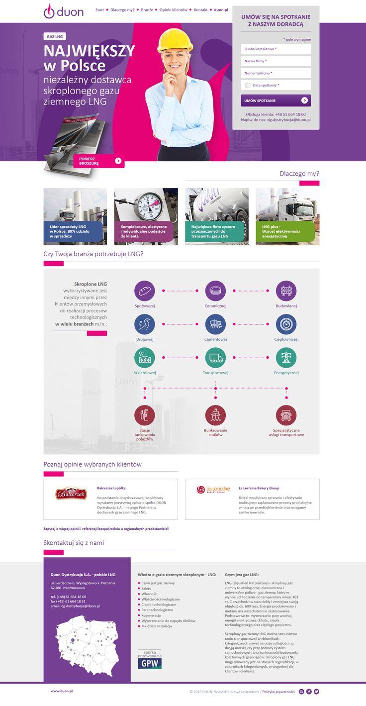 LNG Duon Landing Page Webdesign #webdesign #web #design #piotr #wolniewicz #portfolio #inspiration #landing #page #corporate