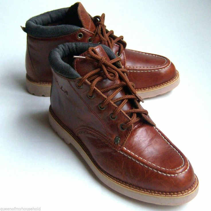 skechers womens boots ankle saddle brown leather lace up