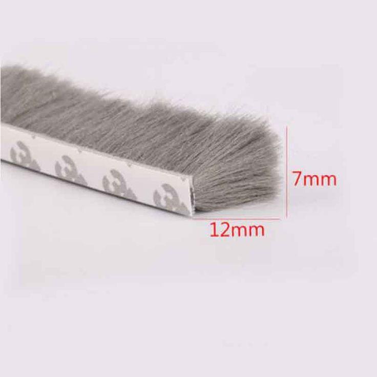 7mm x 12mm self adhesive window door draught excluder brush pile sealing tape weather strip