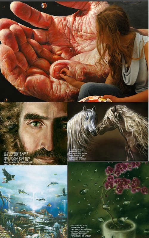 akiane kramarik - amazing child artist with godly visions.  The meanings behind the paintings are so beautiful and wise.