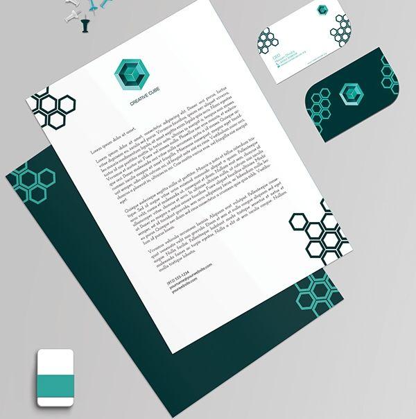 Branding of Creative Cube  - Kop Surat Desain Elegan