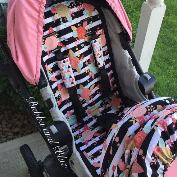 2 custom city select stroller/pram liners by bubbaandblue on Etsy