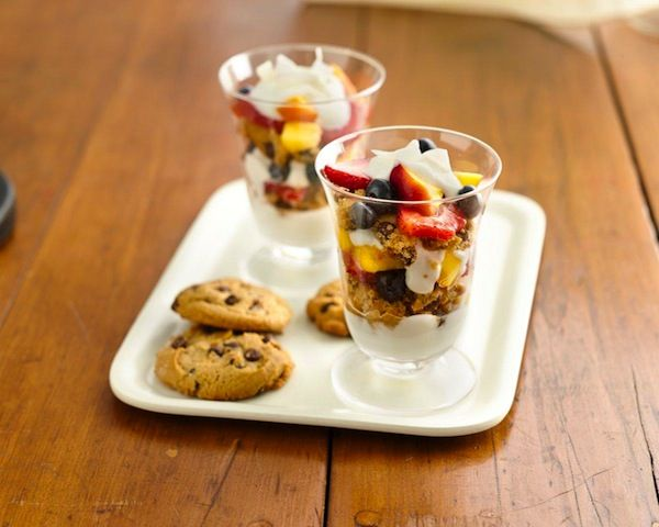 Breakfast parfaits are an easy way to have a healthy and light breakfast or a mid-morning snack. Now you can enjoy them on a gluten-free diet with chef Cat Cora's cookie addition to this breakfast favorite. ...