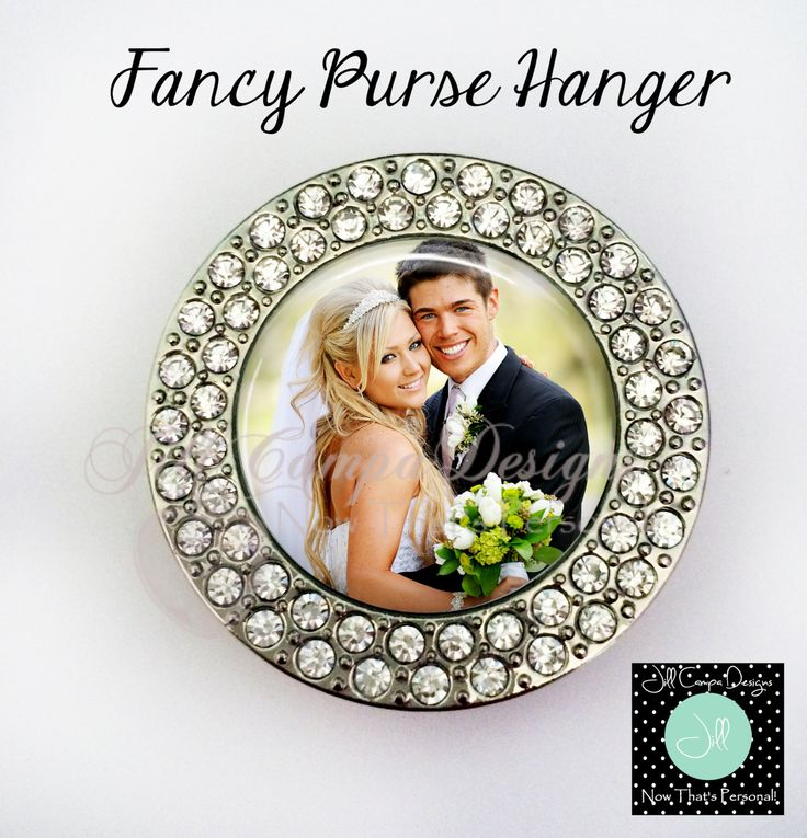 Wedding Gift - Purse Hanger - photo purse hanger, gift for Bride, custom purse holder,folding purse hanger, bling purse hanger by NowThatsPersonal on Etsy