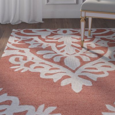 "House of Hampton Uxbridge Hand-Tufted Red Area Rug Rug Size: Runner 2'6"" x 8'"