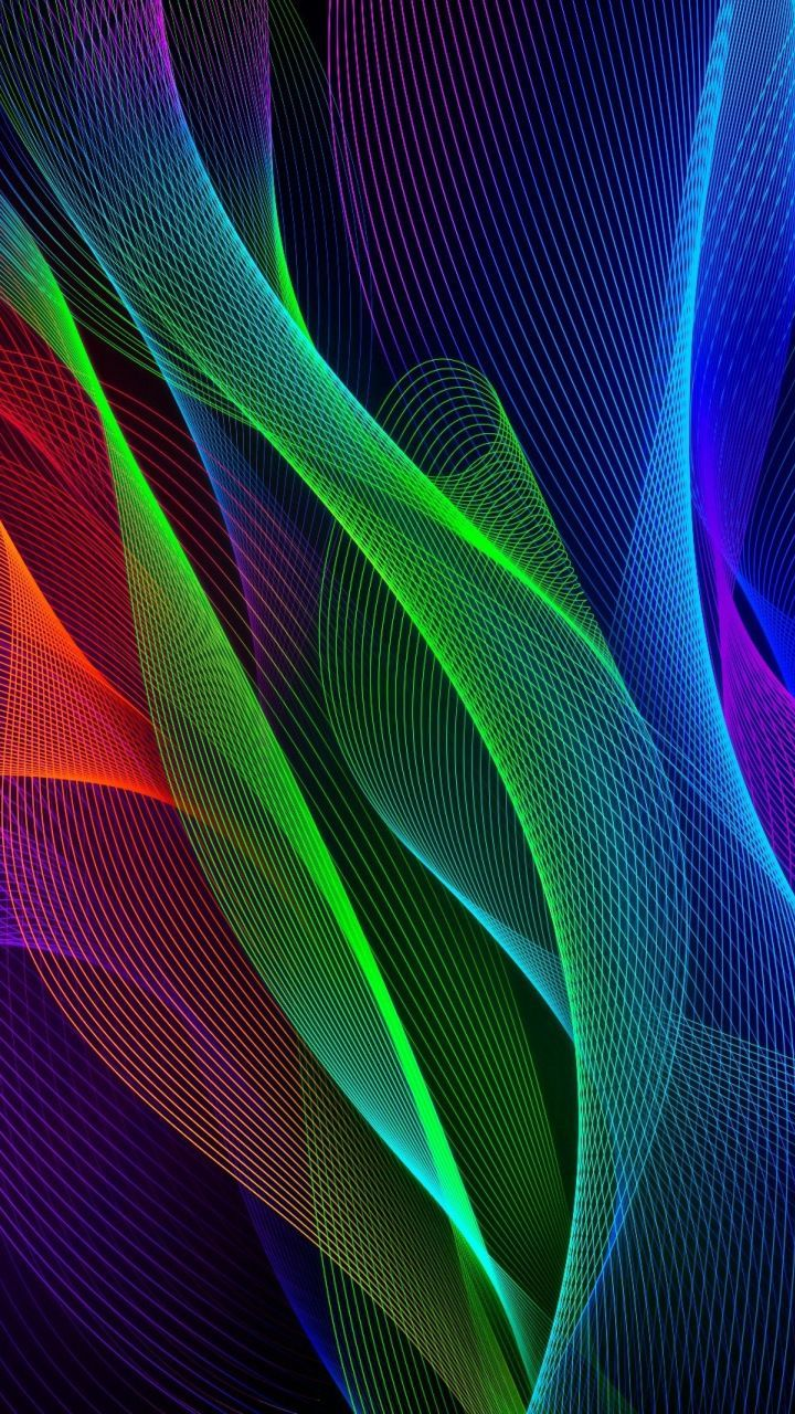 Waves Colorful Razer Phone Stock 720x1280 Wallpaper