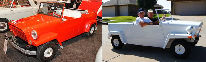 King Midget (1946): Plain as a Box  Aiming to provide a cheap kit car every household could afford, Midget Motors Corporation put together the King Midget package, containing an instruction manual, axles, chassis, steering system, springs and patterned schematics for the sheet metal. Able to accept all one cylinder engines, the King Midget was bargain basement design at its worst and later models were discontinued with stricter safety and emissions regulations.