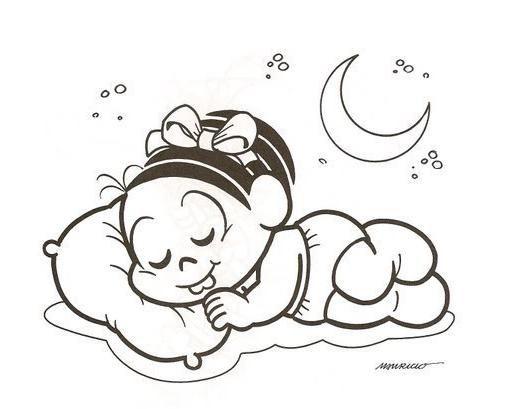 Monica Bebe Dormindo Com Imagens Desenhos Para Colorir Boca
