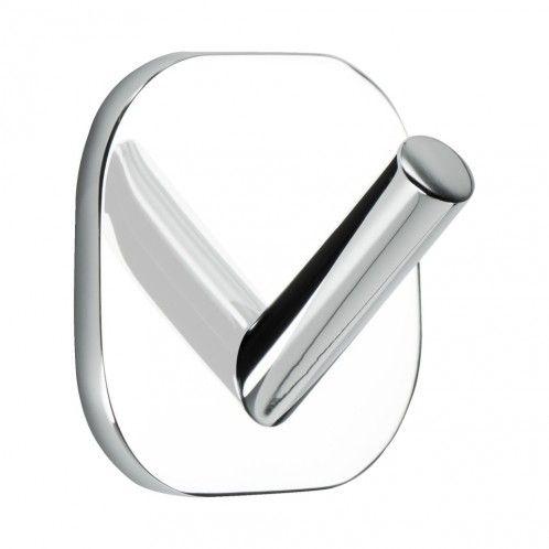 Solid 1-Krok / Borrfri Montering - 2-pack - Krom - Beslag Design #Allabeslag #BeslagDesign #borrfri #krok