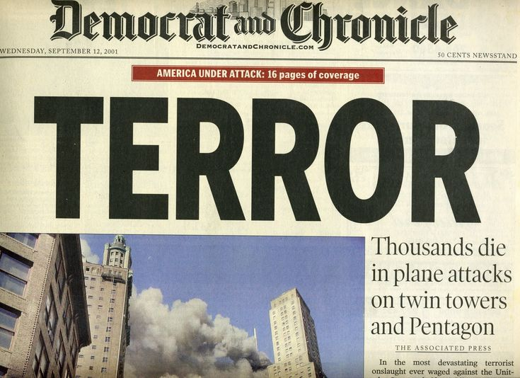 9/11 Newspaper Headlines | Mitigation Journal: 9.11.01 The Headlines Tell the History