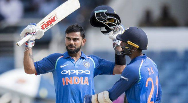 Kingston: Although former captain Mahendra Singh Dhoni is often hailed as a great finisher, current India captain Virat Kohli has the stats on his side to lay stake to that claim, as he surpassed legendary Indian cricketer Sachin Tendulkar's record of scoring the most number of centuries in ODI...