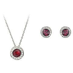 Ruby Swarovski set: Vintage Roses