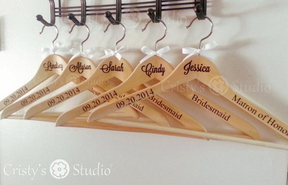Wedding Clothes Hangers  Personalized clothing by CristysStudio