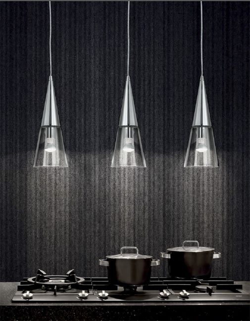 3 x żyrandol Cono (Ideal Lux), wyspa kuchenna