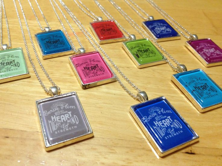 2015 Mutual Theme Glass Tile Necklaces