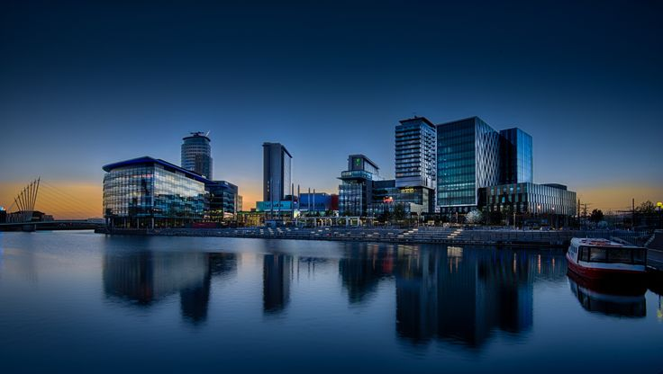 Night falls on Media City by William Rigby on 500px