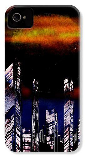 Capital Of The Other Land IPhone 4 / 4s Case Printed with Fine Art spray painting image Capital Of The Other Land by Nandor Molnar (When you visit the Shop, change the orientation, background color and image size as you wish)