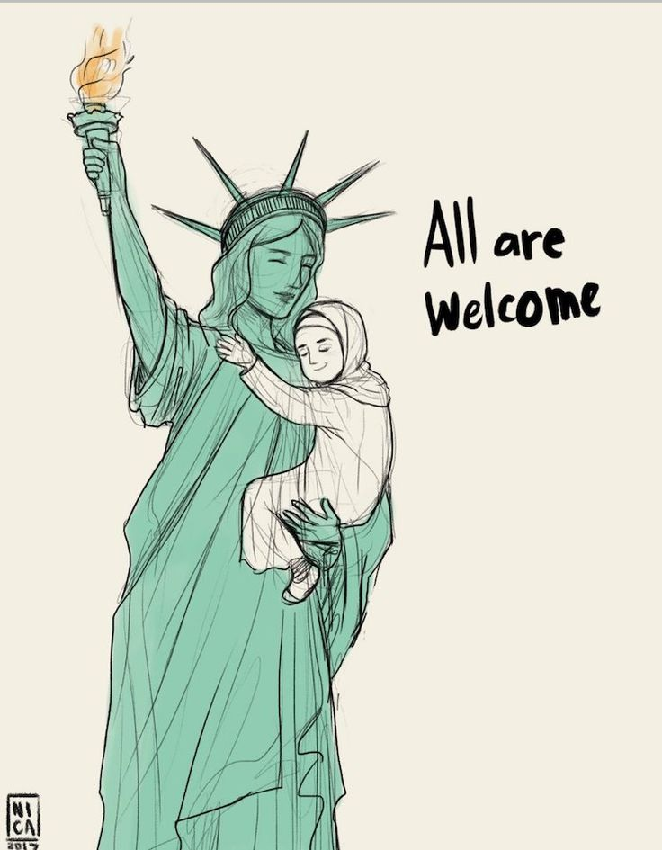 While many channelled their anger, frustration, and sadness into protest signs and chants, others responded through artwork about the refugee ban.