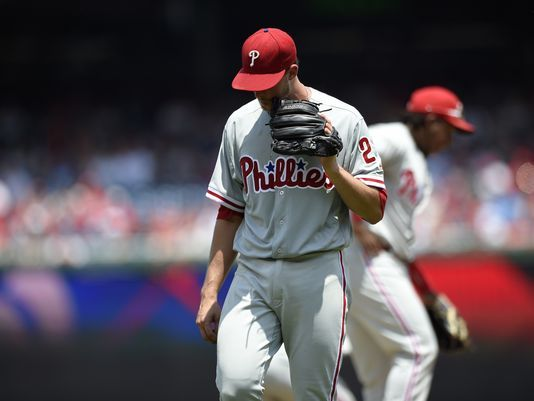 Tanner Roark pitched seven sharp innings and made a rare contribution with his bat to help the surging Washington Nationals beat the Philadelphia Phillies 8-0 Saturday