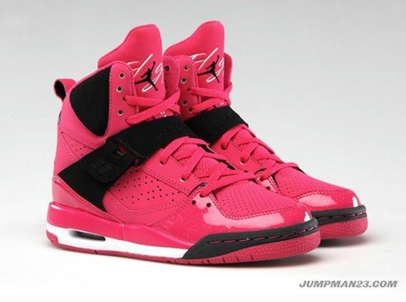 Pink And Black Jordans For Girls