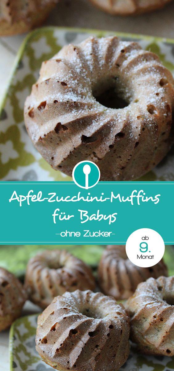 Muffins für Babys ohne Zucker mit Apfel und Zucchini! Mmmh so lecker!