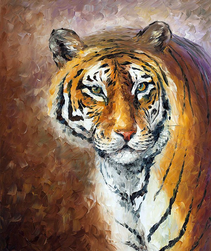 LONELY TIGER - Oil painting on canvas by Leonid Afremov ...