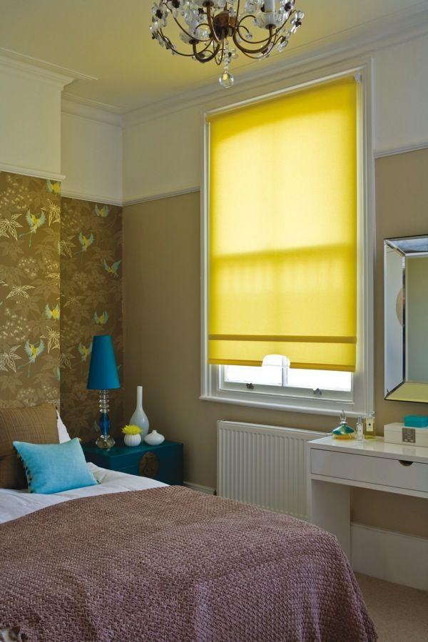 Schlafzimmer bei roller  Die besten 25+ Yellow roller blinds Ideen auf Pinterest | Küchen ...