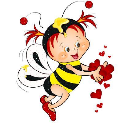 Cute Love Bees - Honey Bee Бесплатные изображения