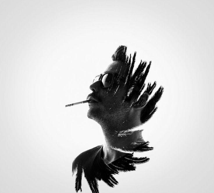 Cultura Inquieta - Hombre vs naturaleza, fotografía de doble exposición, por Erkin Demir