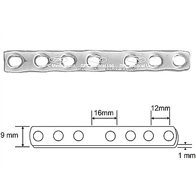 Tubular Plates: GPC Medical Ltd. - Exporter, Manufacturers & Supplier of tubular plate, quarter tubular plate, one third tubular plate, semi tubular plates from India.