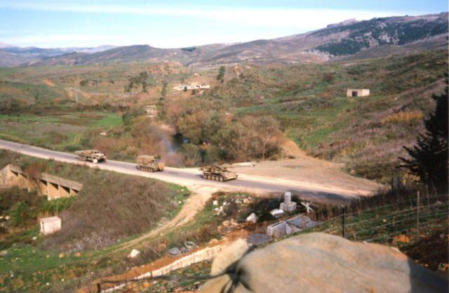Khardala Bridge in South Lebanon, as seen from UNIFIL position 4-18, Norbatt.