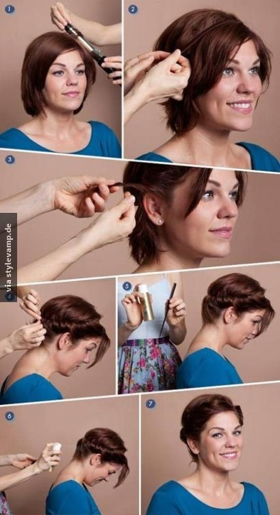 Hochsteckfrisur für kurze Haare ♥