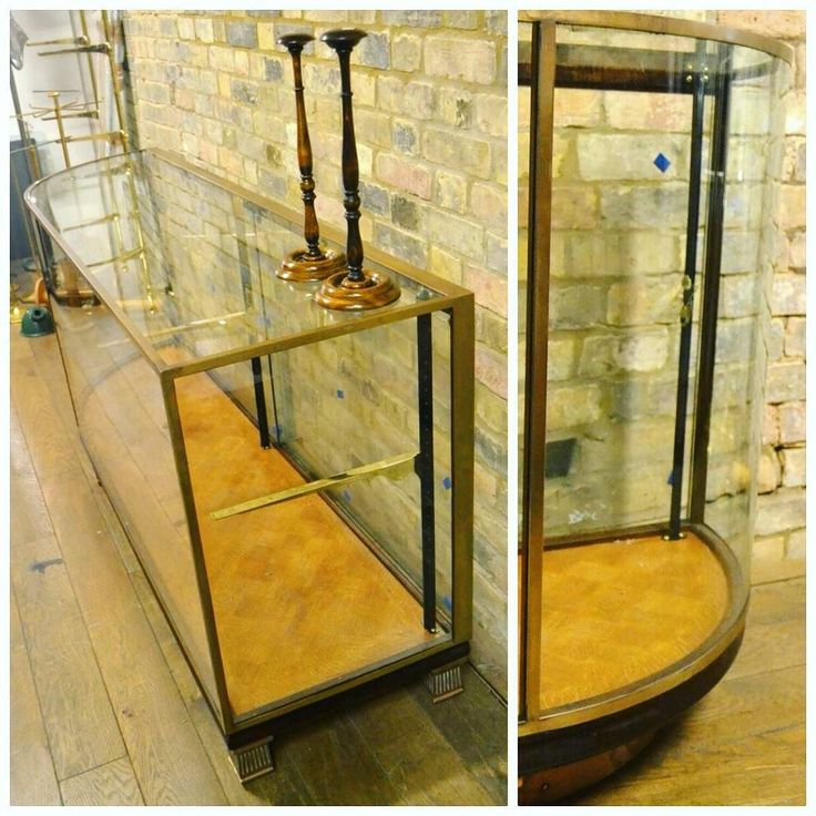 Single Bow Ended Display Cabinet at D and A Binder I We have amazing single bow ended glass and bronze cabinets for sale! With parquet floor and toughened glass we think this stunning piece really does stand out as a display unit - if you'd love one of these contact us directly today!