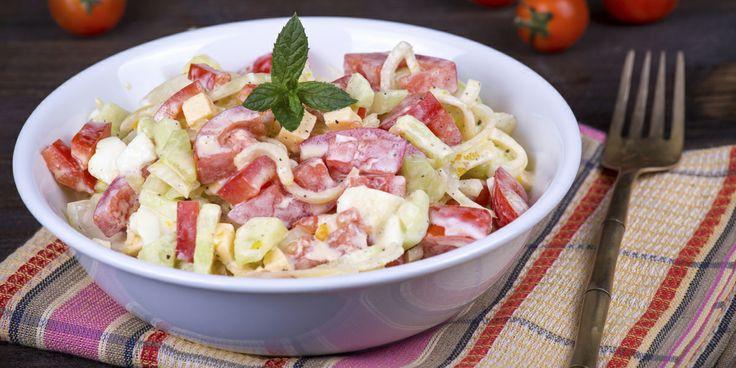 Gazpacho Salad. Enjoy the flavours of Italian cuisine, minus the airfare.