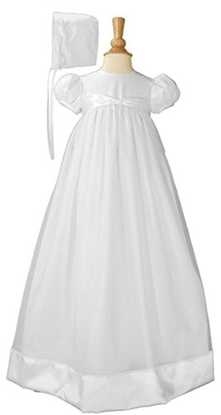 Edith Organza White Christening Gown 12M - Brought to you by Avarsha.com