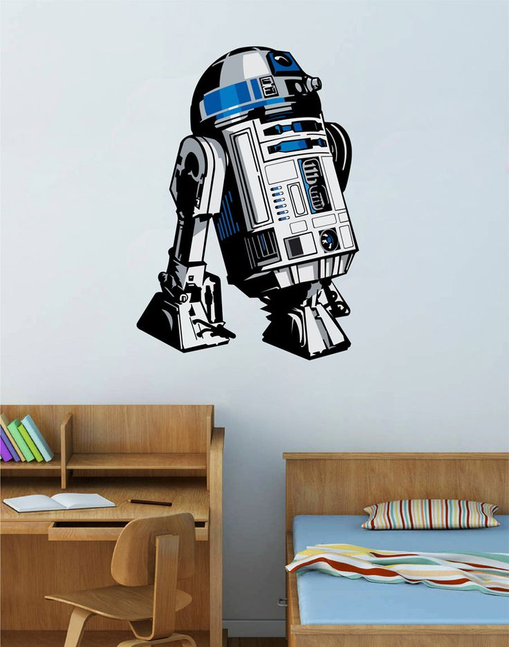 cik1273 Full Color Wall decal R2-D2 droid robot Star Wars children's bedroom
