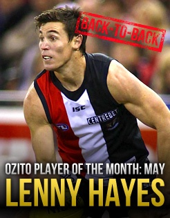 Lenny goes back-to-back - Official AFL Website of the St Kilda Football Club