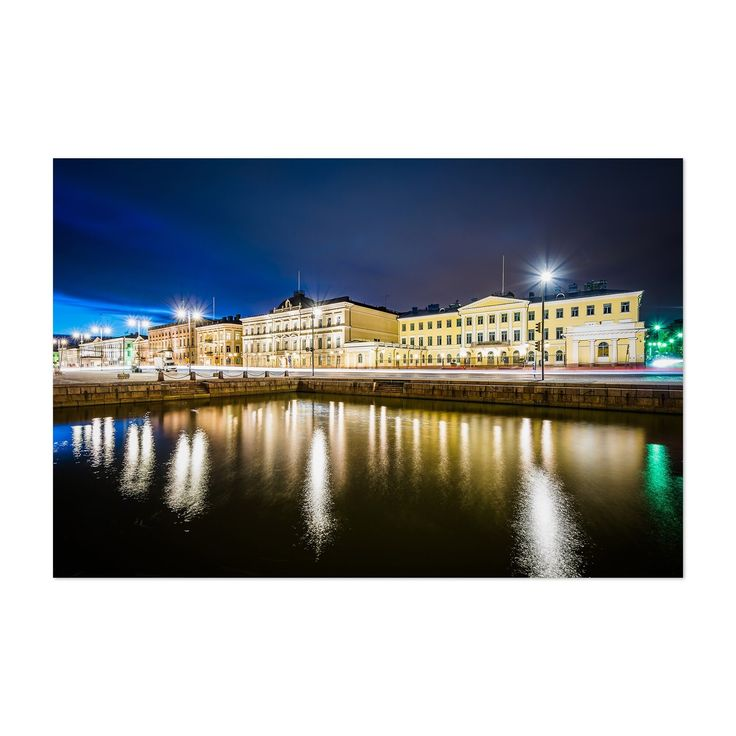 Noir Gallery Helsinki Finland Market Square Unframed Art Print/Poster (16 x 20), Black