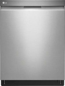 "LG 24"" Top Control Built-In Dishwasher: QuadWash technology; EasyRack plus system; electronic controls; accommodates up to 15 place settings; 44 dBA operation; half load, auto wash and dual control options; LoDecibel quiet operation"