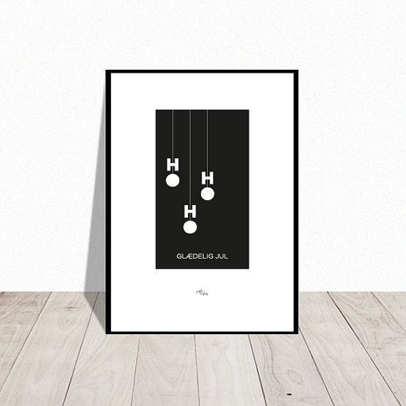 Ho-Ho-Ho . Christmas poster. Available in many colors. Design Mai-Britt Parylewicz.