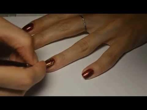 Осенний дизайн ногтей гель-лаком + видео
