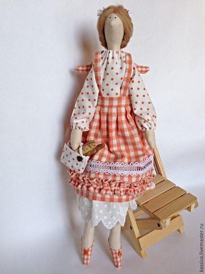 Куклы Тильды ручной работы. Ярмарка Мастеров - ручная работа. Купить Булочница ( ангел тильда ). Handmade. Разноцветный