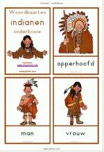woordkaarten Indianen - onderbouw