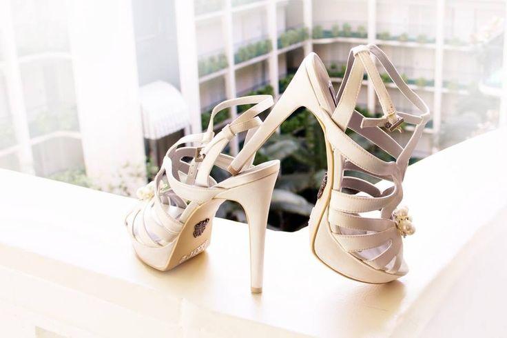 My Vera Wang Wedding Shoes! Super comfortable!