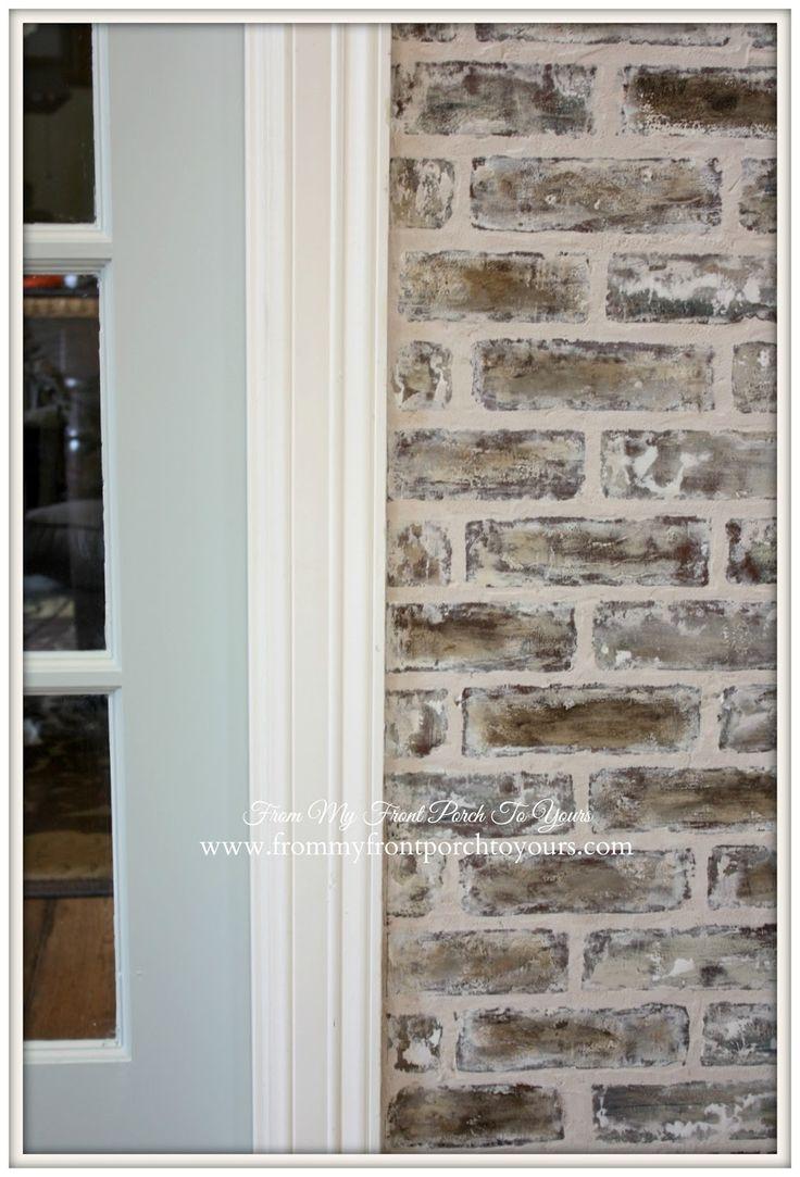 Sneak Peek At Faux Brick Wall Amp Choosing Glass Door Knobs
