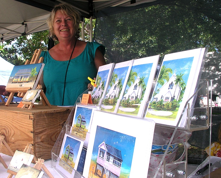 """'Old Queenslanders"""" and St Mary's by the Sea (chapel) in Port Douglas - canvasses and prints by Jacky at the Port Douglas Market    https://www.facebook.com/portdouglasmarket"""