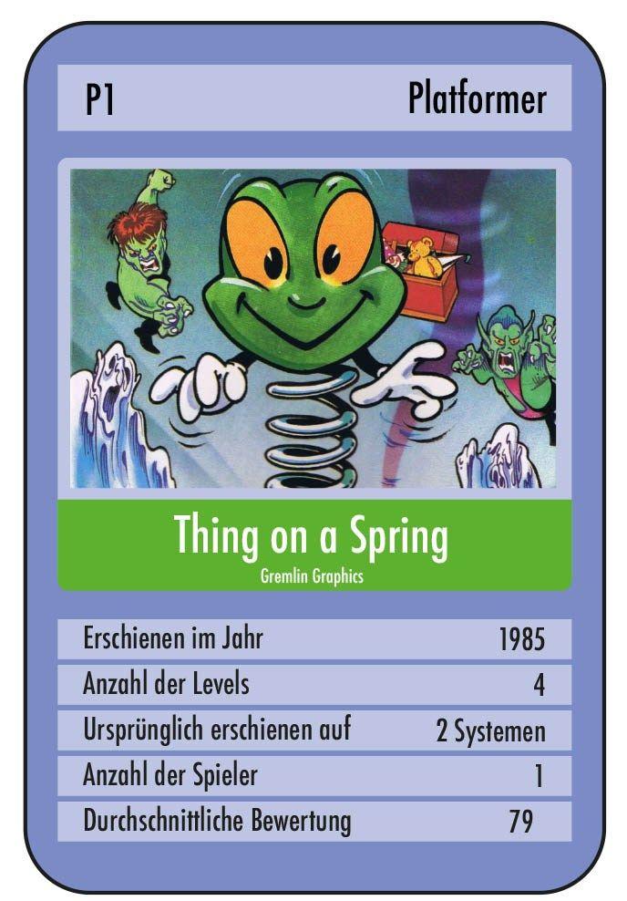 Thing on a Spring – ein Spiel, welches Spaß machen, aber auch ingleichem Maße für Frustration sorgen kann, ist heute an der Reihe. Dies haben wir meinen Twitter-Follower @C64_endings zu verdanken. Nicht etwa, weil er mich explizit danach gefragt hat sondern, weil der grüne Held sein Twitterprofil ziert. Ein böser Goblin hat alle Spielzeuge aus …